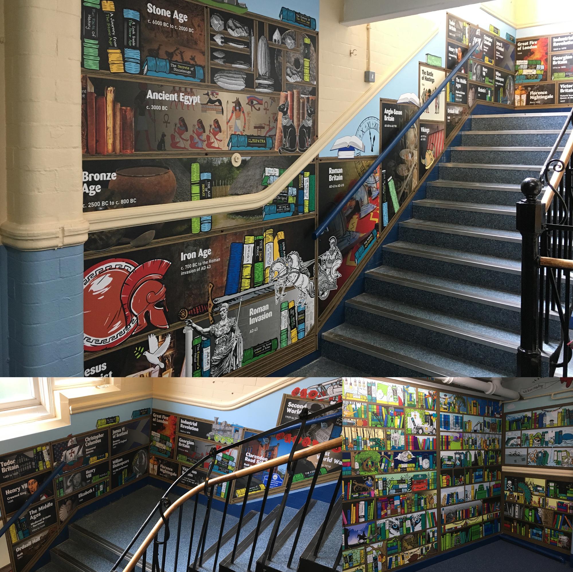 clarendon School indoor Wall Graphics designs
