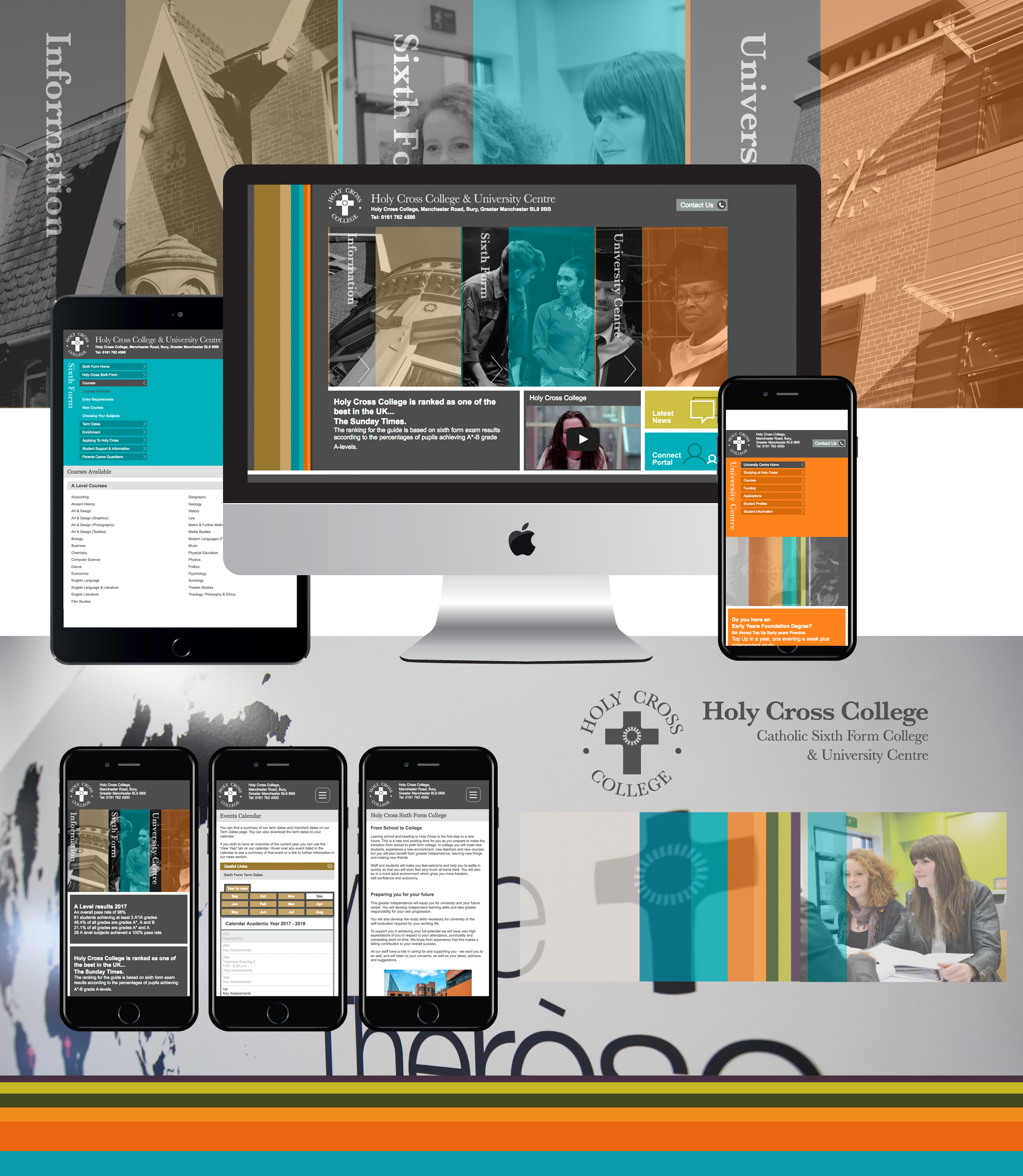 Bespoke college Website Design for holy cross