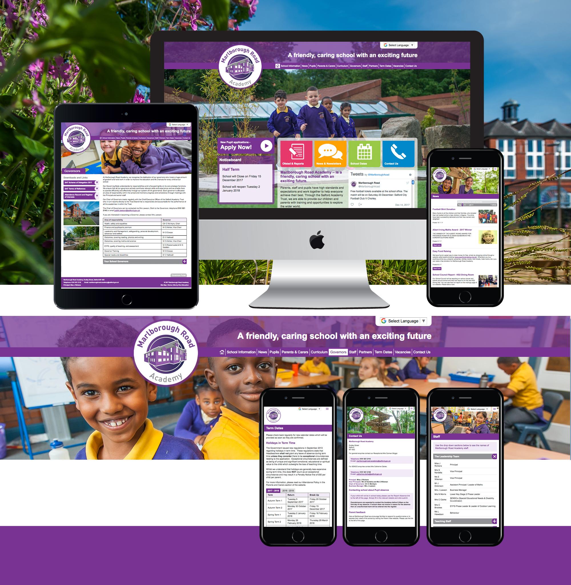 marlborough academy website design