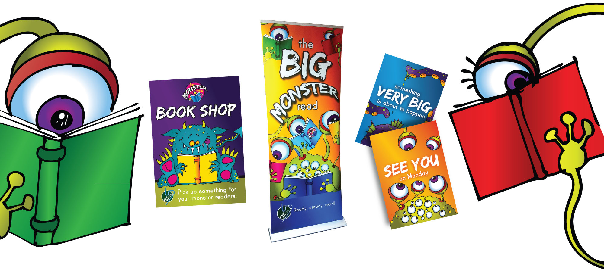 marketing campaign River View Primary School Monster Read
