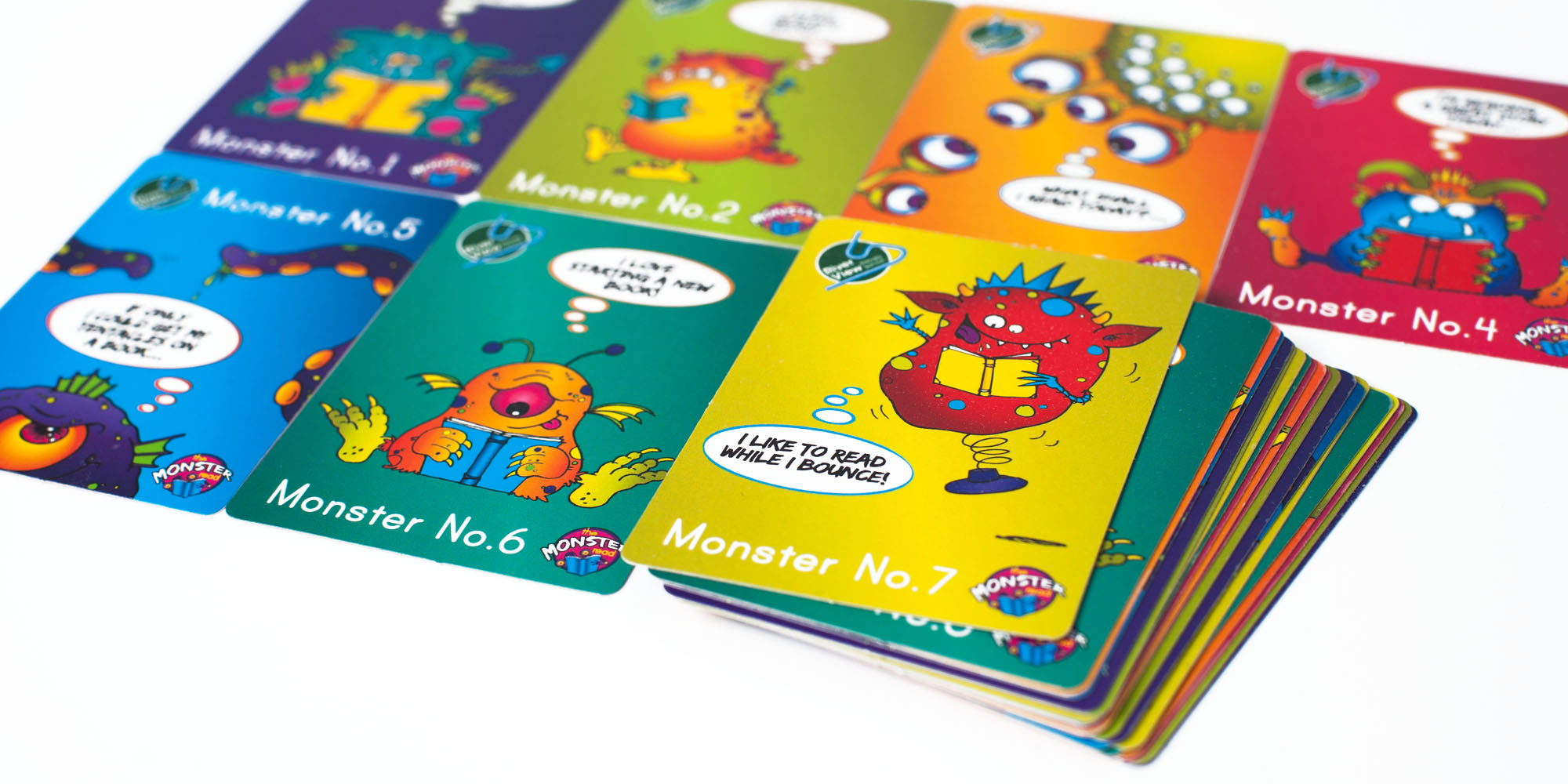 River View Primary School Monster Read collectable cards