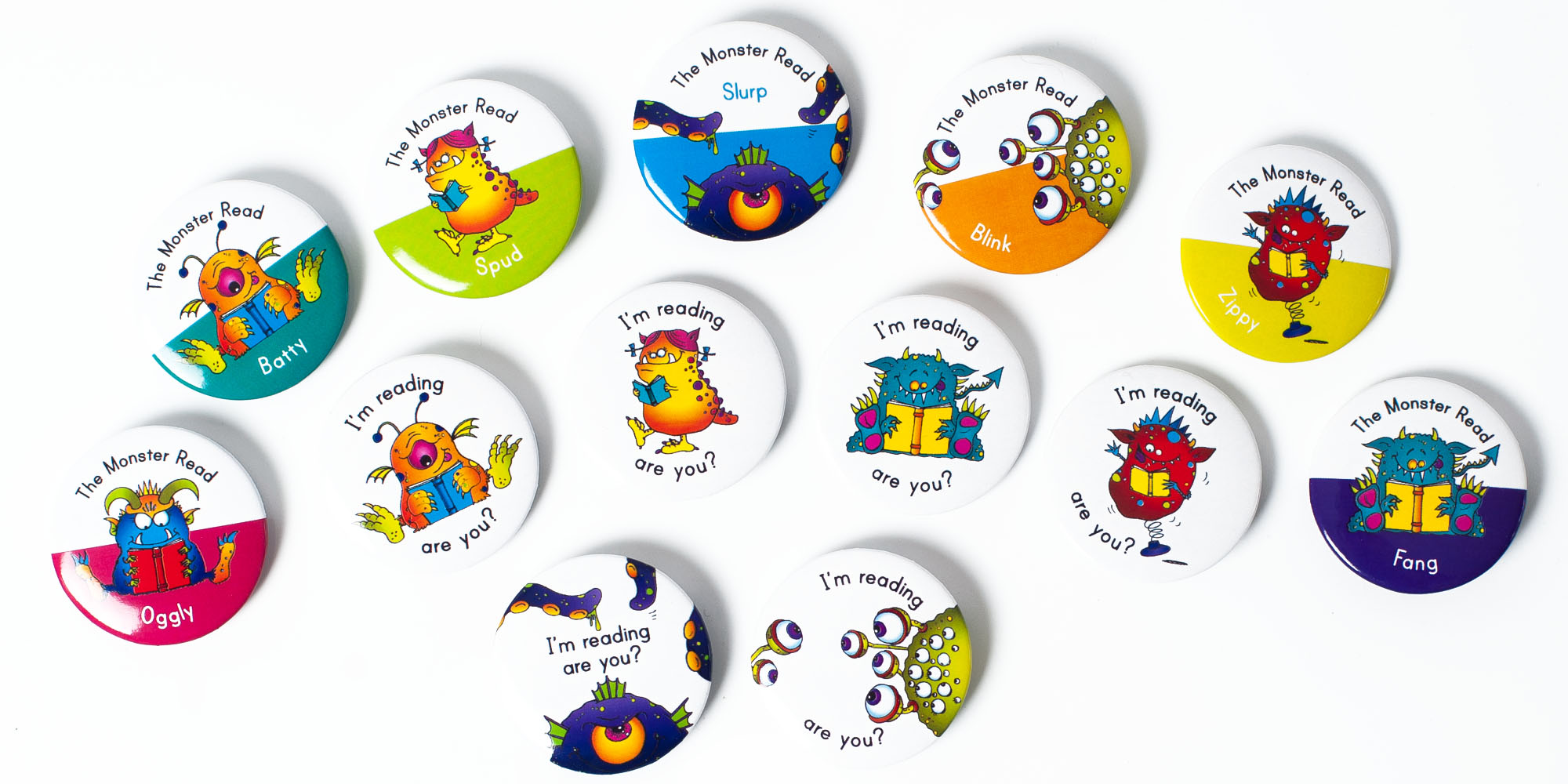 River View Primary School Monster Read badges