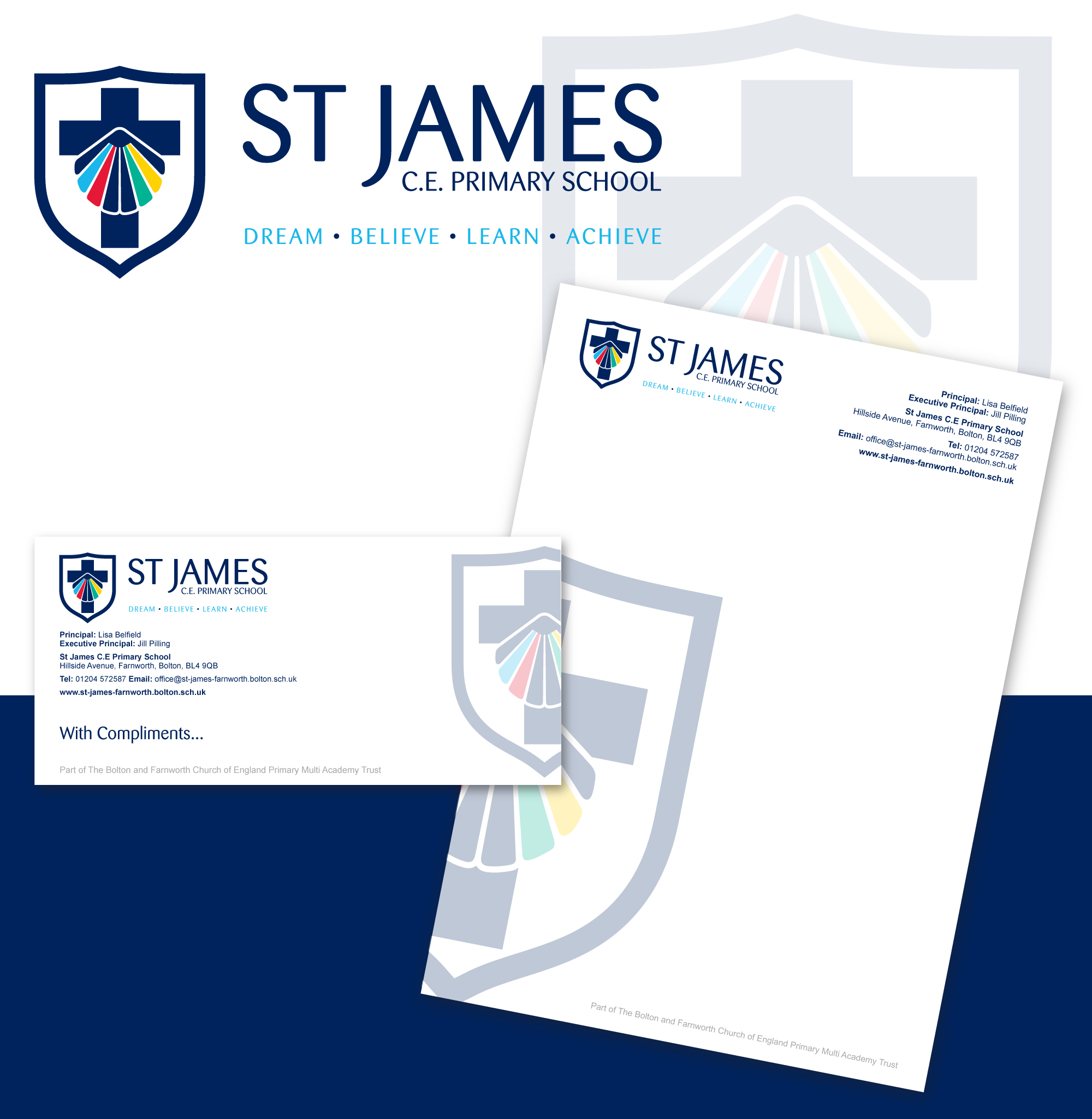 st james School Logo Design