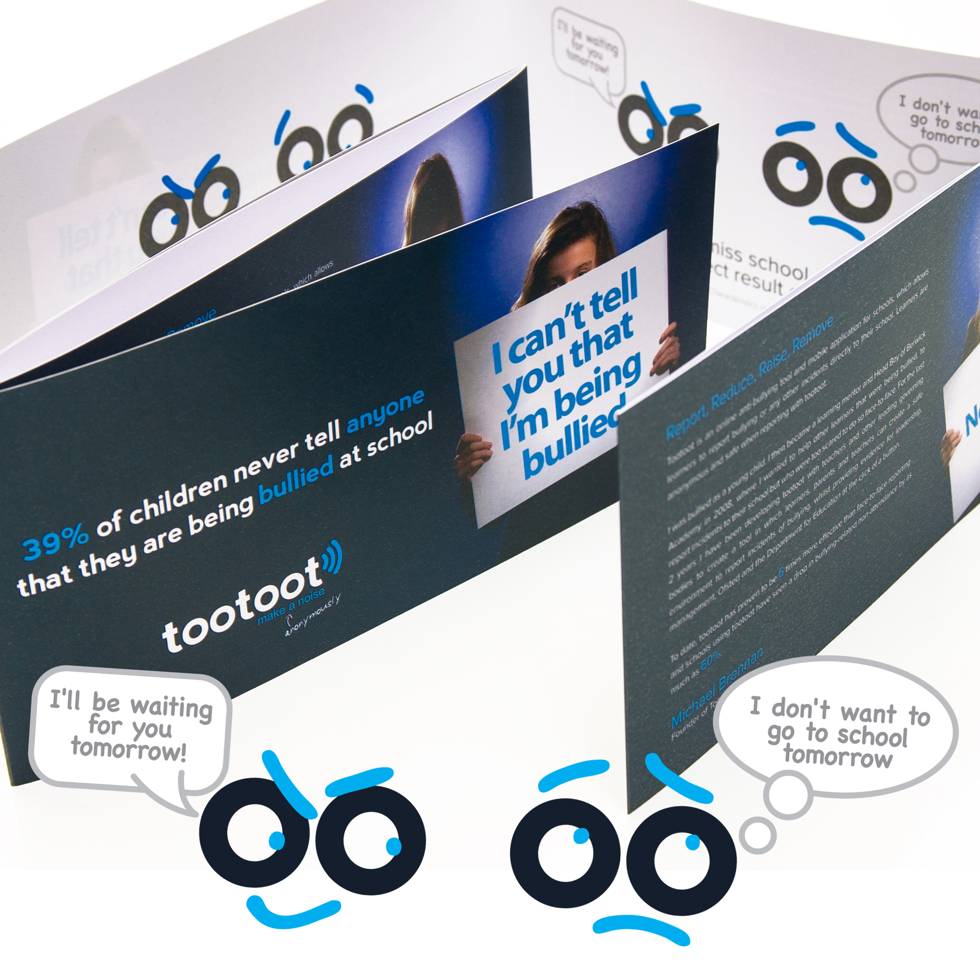 Marketing Leaflet Design for tootoot phone app
