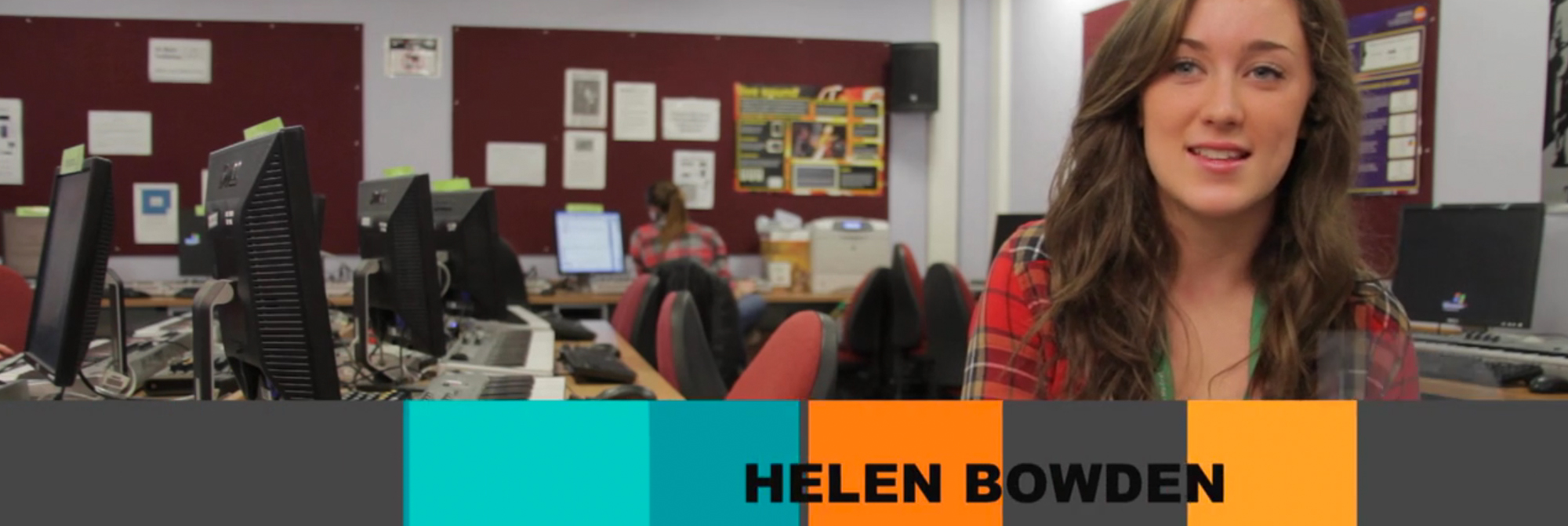 university Video Graphics production for holy cross sixth form