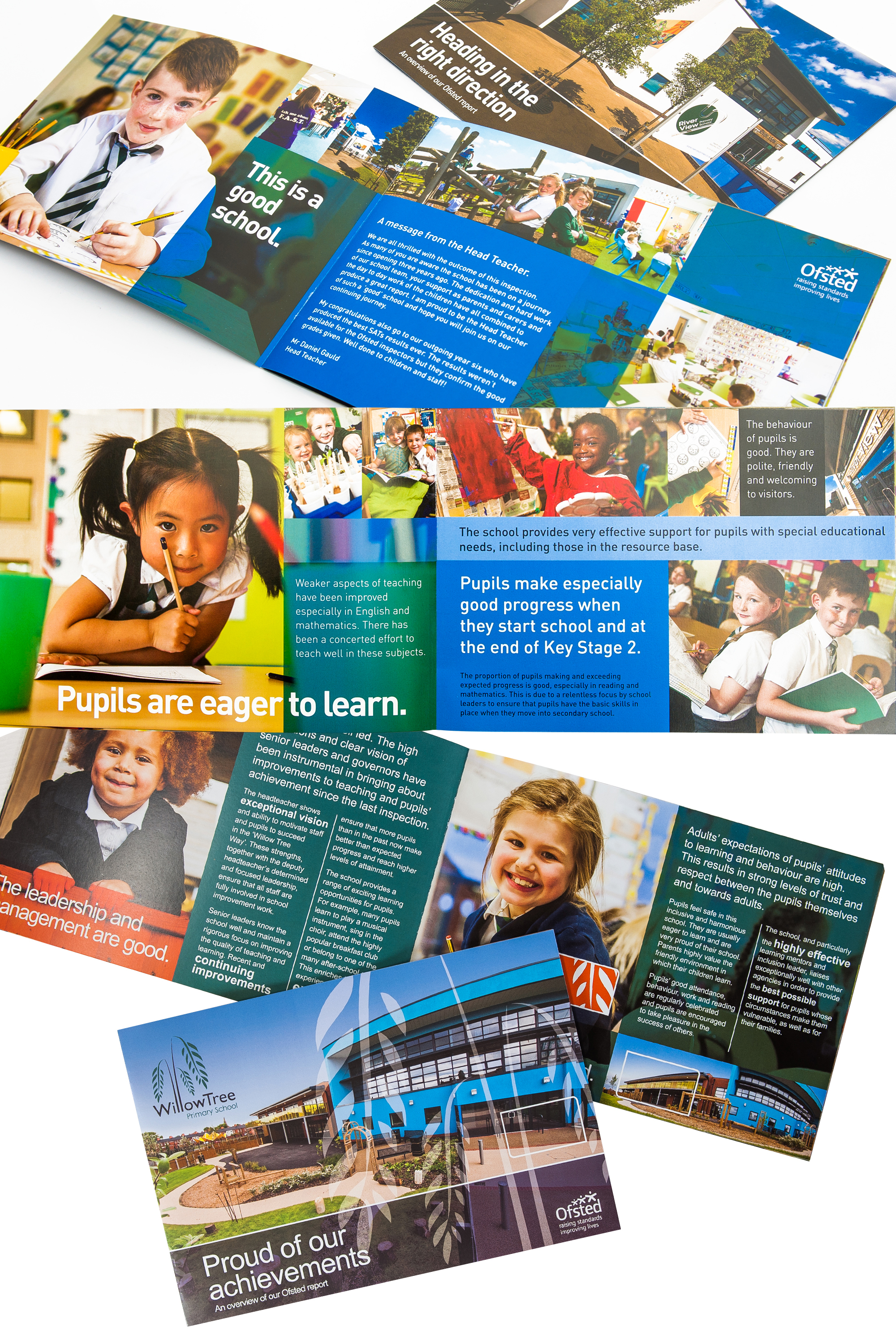 printed school booklet designs for ofsted report
