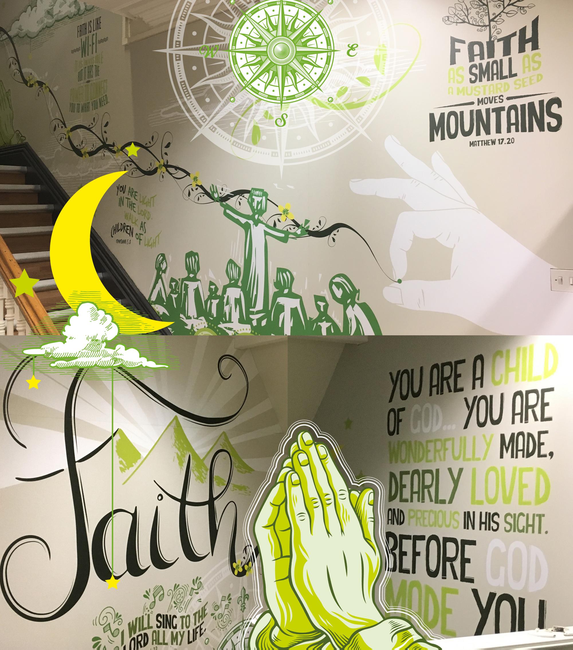 School stairwell Interior Wall Graphics