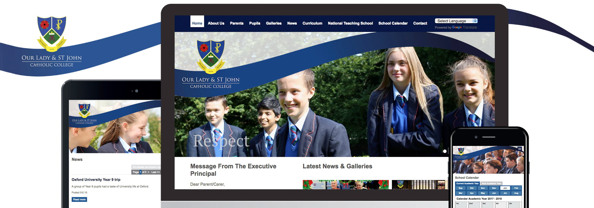 school website design