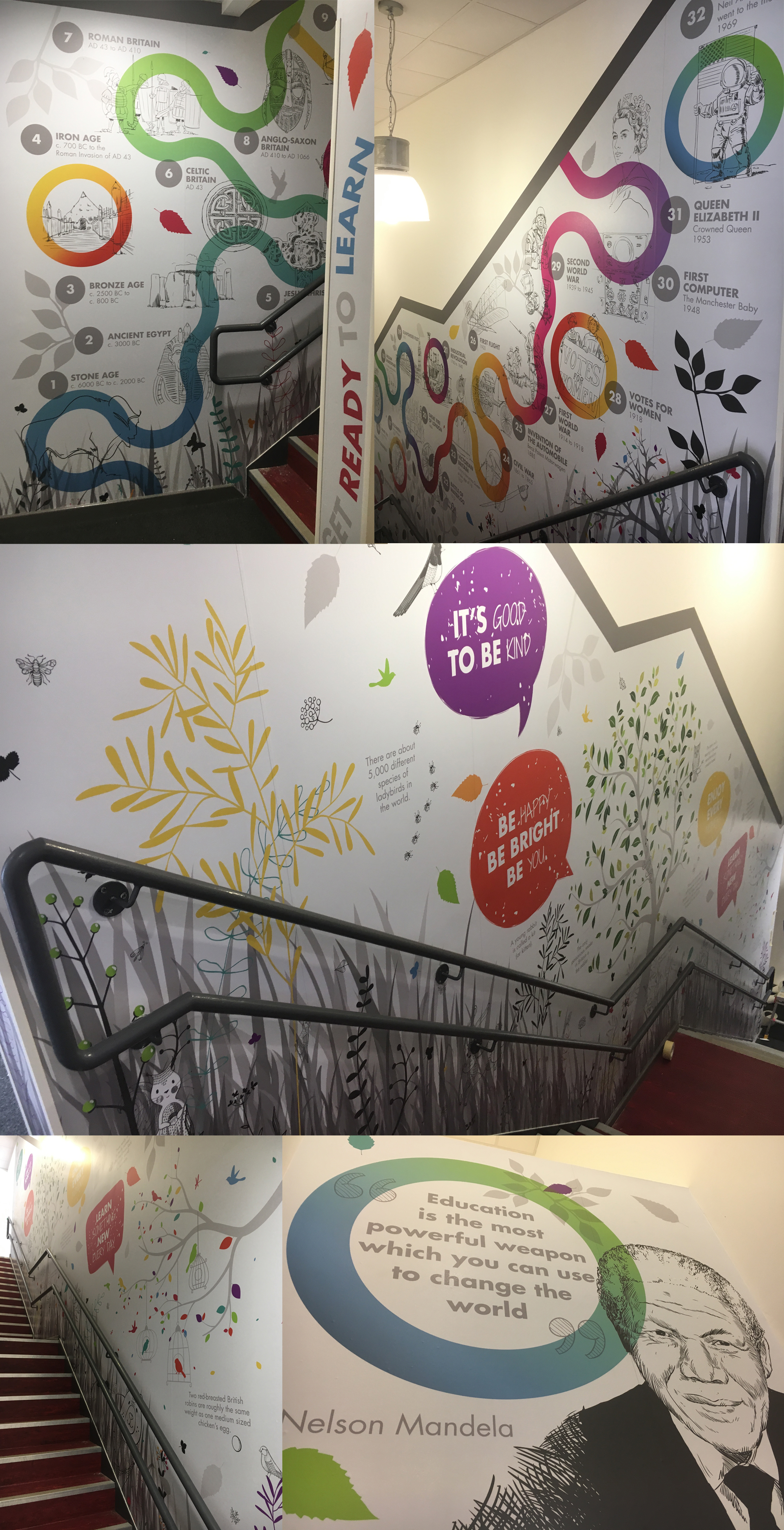 new islington School Wall Art for stairwell