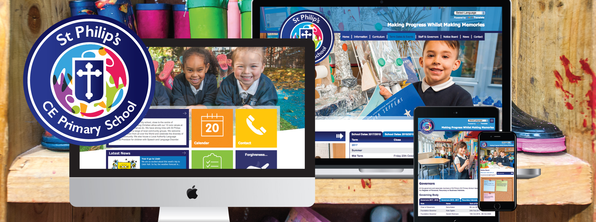 school web design & development services – st philips