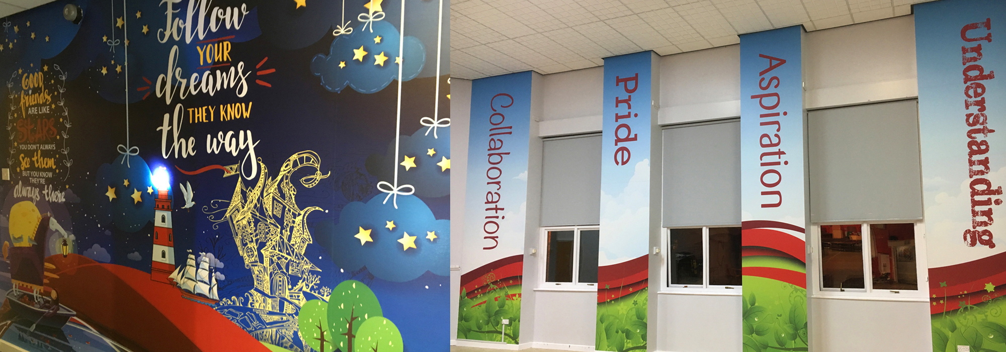 school wall graphics design and print – pride
