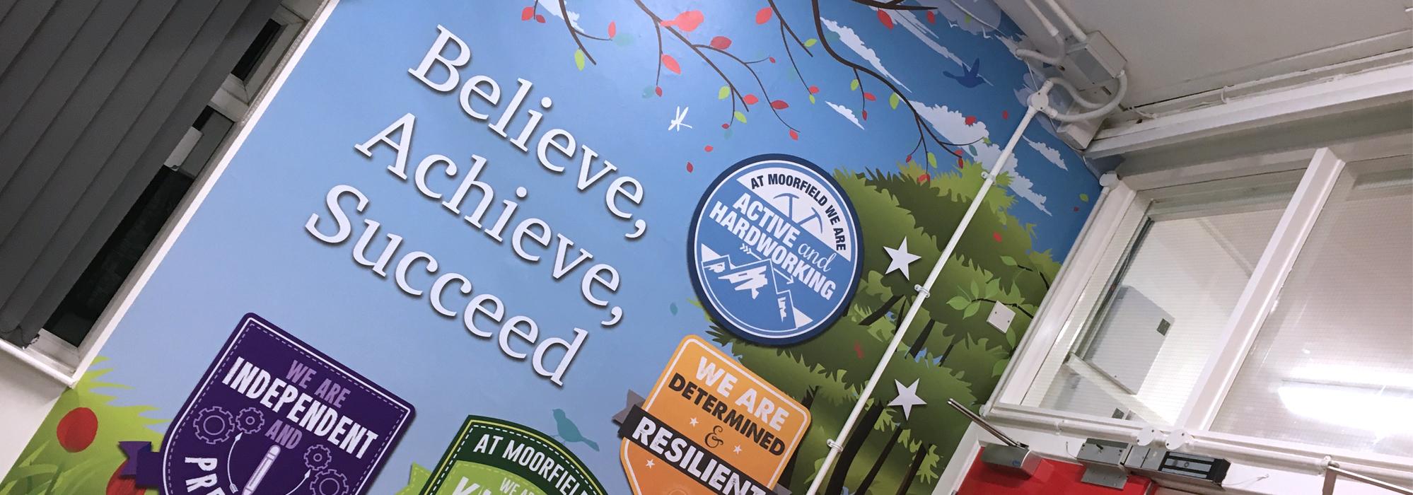 uk school wall graphics in moorfield