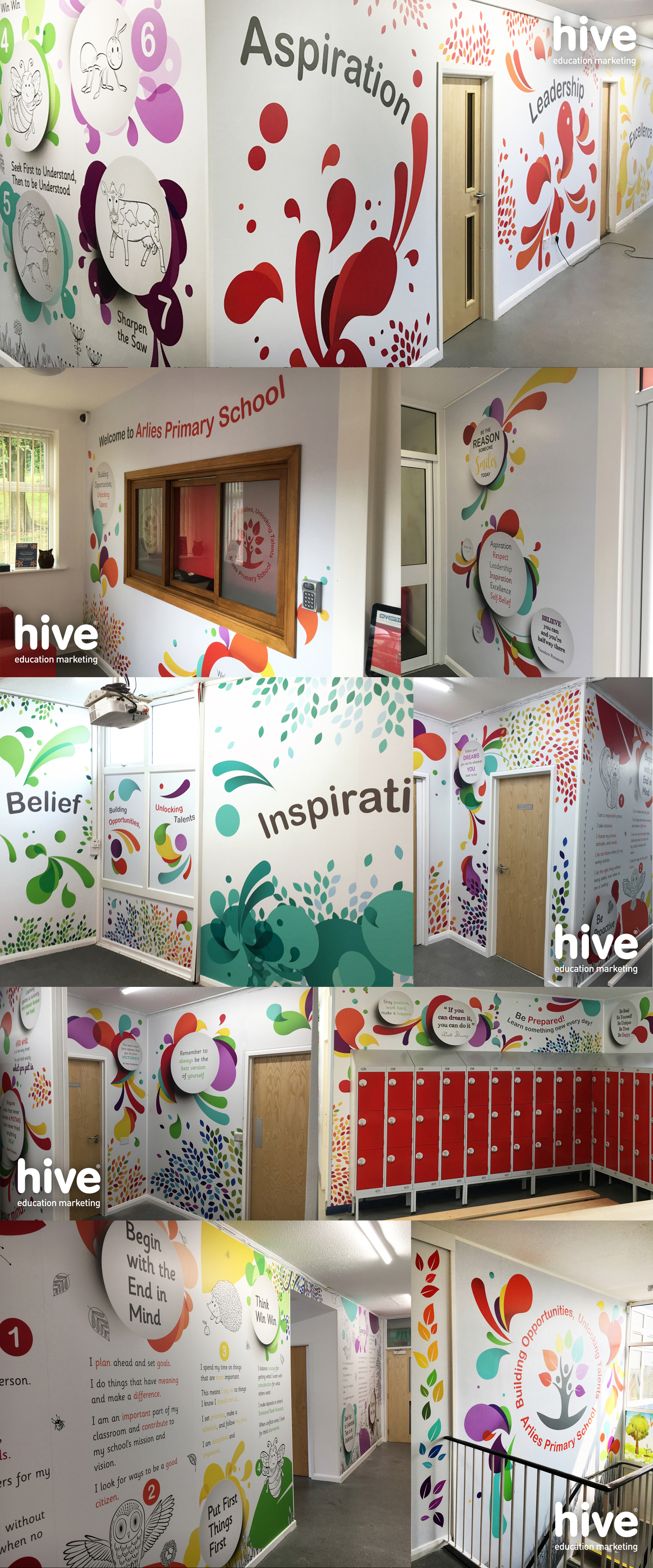 Wall Graphics for Arlies Primary School by Hive