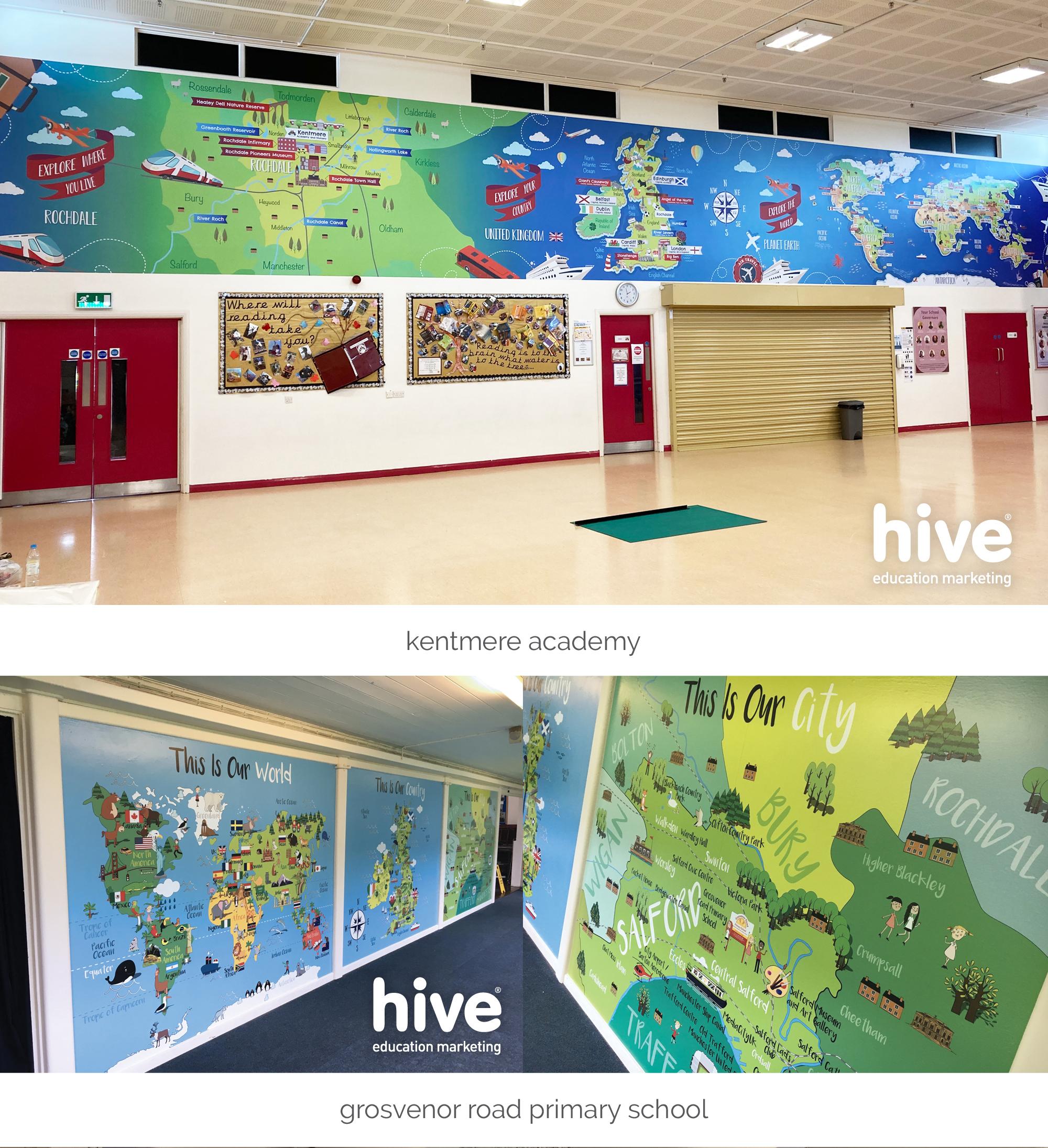 world map wall art
