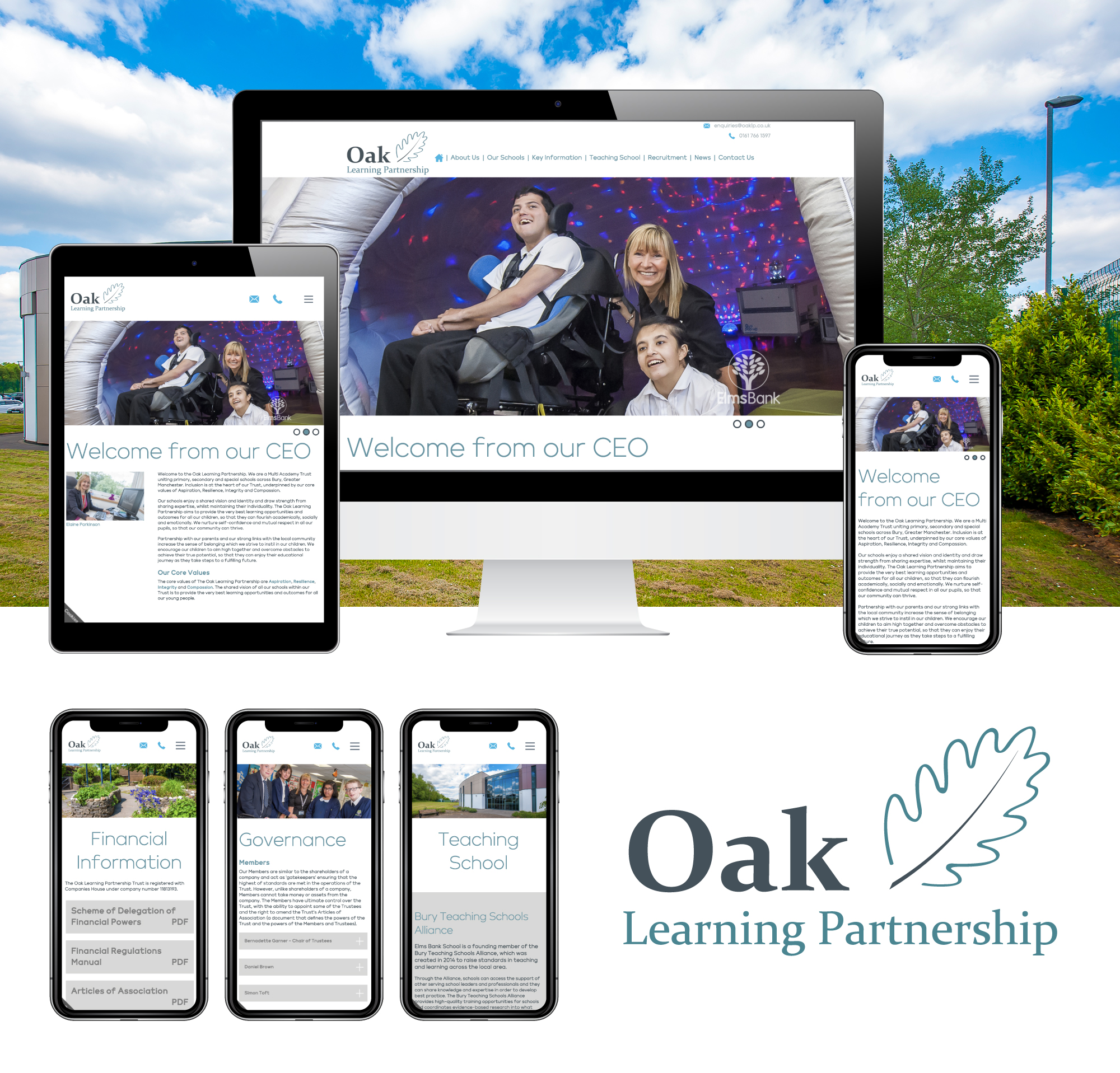 Multi Academy Trust Website for Oak Learning Partnership